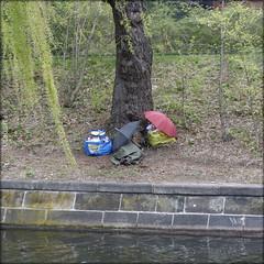 habitat (piktorio) Tags: berlin germany street canal tree underatree habitat sleeping springtime homeless kreuzberg camp piktorio umbrellas