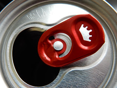 Made of metal (M. Carpentier) Tags: aluminium beer can cannette gray gris macromondays metal red rouge madeofmetal bière