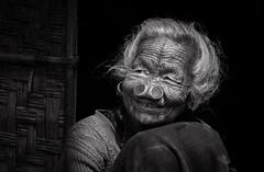 Apatani (Frank Busch) Tags: frankbusch frankbuschphotography imagebyfrankbusch photobyfrankbusch apatani arunachalpradesh bw blackwhite blackandwhite india portrait tribes woman ziro