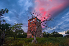 At the Top Of Bear Mountain (10iggie) Tags: sunset orangecountyny observatory tower perkins memorial drive hudson valley colors building stone trees green sky