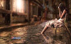 Carlos Atelier2 - Noite de Chuva (Carlos Atelier2) Tags: carlos atelier2 chuva água mulher noite sentada