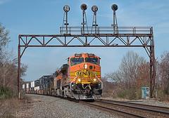 BNSF 5521 Leading Intermodal Lake City, PA (Chicago Line Railfan) Tags: csx west subdivision erie intermodal train bnsf 5521 lake city pa nyc signal bridge