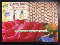 Snack time (witt0071) Tags: postcard pattern mailart collage winelabel flowers color 100daysofcolor