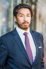 Richard [Stranger #31/100] (Vijay Britto Photography) Tags: man suited handsome stare nikon d750 18mm 18 85mm 100strangers naturallight outdoorportraits