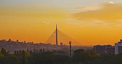 Catching the last of the sun (Peter Leigh50) Tags: belgrade sunset city cityscape bridge sky skyline