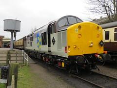 "37714 R/F Metals ""Cardiff Canton"" at Loughborough Central Station 17/03/2017 (37686) Tags: 37714 rf metals cardiffcanton loughborough central station 17032017 great diesel gala"