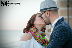 Kiss at the sunset (SCarusophotographer) Tags: prewedding prematrimonio pozzallo bacio kiss girl boy couple coppia sicilia sicily sunset sea tramonto love amore