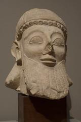 Head of a Votary from the Temple of Golgoi (Jerry7171) Tags: sculpture cyprus head art limestone greekart mia minneapolis templeofgolgoi minneapolisinstituteofart minnesota unitedstates