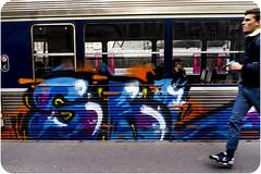 AVEC MES GROSSES COUILLES (nARCOTO) Tags: graffitis graff graffiti train transilien paris