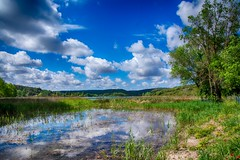Ruidera spring (Peideluo) Tags: landscape clouds green hdr reflection water tree nature