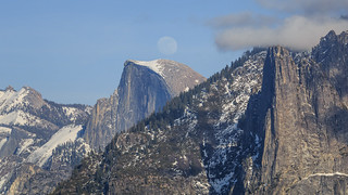 Moon Rise Over Half Dome