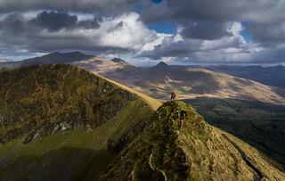 Enjoying the ridge