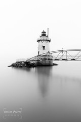 Tarrytown Lighthouse, NY (Dante Fratto Photography) Tags: fog hudsonriver kingslandpointlighthouse kingslandpointpark lighthouses newyork sleepyhollow sleepyhollowlight sleepyhollowlighthouse tappanzeebridge tarrytownlight westchestercounty wwwdantefrattocom wwwdantefrattophotographycom