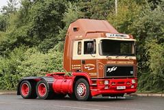 ERF E 14 J F Rothwell Trafford Park (Frank Hilton.) Tags: classic truck lorry eight wheel maudsley aec atkinson albion leyalnd bristol austin outside heavy haulage crane 8 axle