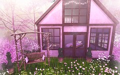 The Summer House (RoxxyPink) Tags: roxxypink roxxy pink fashionuschies fashion uschies secondlife secondblog secondlifeblogger blog blogger blogging blogspot fiasco furniture raindale panavia cosmopolitan event fair the season story flower green house summer mesh deco decoration decor bush tree home living thebox bed bluesky