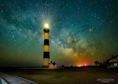Bodie Island Lighthouse (Greg Lundgren Photography) Tags: milkyway astrophotography night lighthouse bodieisland nagshead capehatteras northcarolina stars