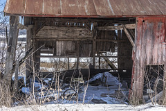 The inside (Flapweb) Tags: addisoncounty vermont vergennes barn decay