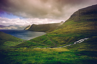 The road to Funningur - Faroe Islands