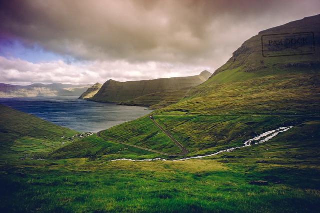 The road to Funningur - Faroe Islands