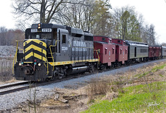 Easter Train (Troy Strane) Tags: oldroad indiana northeastern railroad train passenger gp30 nyc littleriver quincy michigan