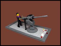 """FRAKKIN' SEAGULLS!!!..."" (Karf Oohlu) Tags: lego moc vignette technicfigure machinecannon 1inchordnance antiseagullgun"