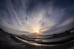 Halo seen from Yamaguchi Bay (kurumaebi) Tags: yamaguchi 秋穂 山口市 nikon d750 nature landscape sea sunset dusk halo ハロ