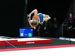 Twisting Straight back (Skoda Girl) Tags: ladies gymnastics gymnast world cup 2017 sport artistic floor routine twisting straight back somersault holland dutch netherlands