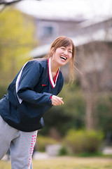 Happy young woman throwing ball to her boyfriend (Apricot Cafe) Tags: img27783 2024years asia asianandindianethnicities canonef70200mmf28lisiiusm japan japaneseethnicity kyotocity kyotoprefecture athletes ball baseball carefree casualclothing catching charming cheerful citylife couplerelationship dating day enjoyment freedom friendship happiness kamoriver lifestyles oneperson onlywomen outddoors photography pitcher relaxation riverbank smiling sportsactivity springtime threequarterlength throwing toothysmile uniform vertical walking weekendactivities women youngadult kyōtoshi kyōtofu jp