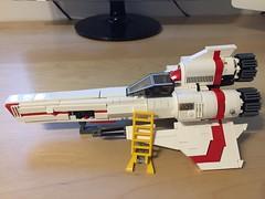 BSG Viper MkII (CK-MCMLXXXI) Tags: lego moc battlestar galactica viper mkii build starfighter