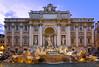 Fontana di Trevi (gtsimis) Tags: roma rome travel nightscape city urban outdoors water fountain fontanaditrevi lights pentaxk10d superwideangle 10mm 115 statues building rocks windows columns