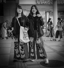 Sisters (Bill Morgan) Tags: fujifilm fuji x100f bw jpeg street tokyo