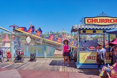 01-rollercoaster (Davis.Kim) Tags: none disneylandcaliforniaadventure rollercoaster boardwalk amusementpark churros people strollers fun ride outdoor