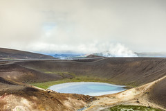 Iceland (webeagle12) Tags: iceland nikon d7200 europe mountains landscape vegetation rocks nature mountain earth planet reykjahlíð north krafla volcanic lava fields volcano crater lake