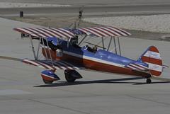 Super Tearman Wing Walker (dcnelson1898) Tags: 2017mcasyumaairshow yuma arizona desert winter mcasyumaairshow planes outdoors gregsheldonairshows 450superstearman biplane wingwalker patriotic aviation