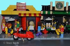 Busy days (110/365) (Tas1927) Tags: 365the2017edition 3652017 day110365 20apr17 lego minifig minifigure mcdonalds starbucks