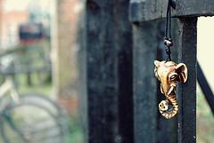 HFF - Hanging on a fence (J a n W i l l e m) Tags: necklace elephant hff fence pentax k200d smcpentaxdal1855