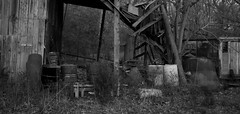 IMG_1372 (e08avenger) Tags: ghost black white photographs spooky fake horror haunted haunting staged barn motion blur