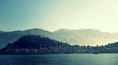 Bellagio (FlavioSarescia) Tags: lake nature bellagio italy italia travel sunshine sun sunlight sunbeam island spring sky sony