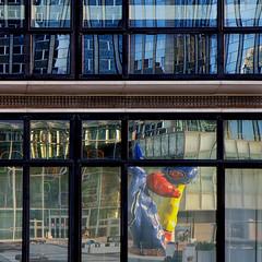 Refllets à La Défense. Paris (jjcordier) Tags: reflet ladéfense paris immeuble miro