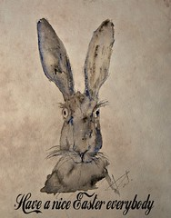Easter (patrick.verstappen) Tags: easter hare pasen paques pat photo picassa pinterest painting art april spring facebook flickr fabriano sigma texture textured ipernity ipiccy imagine inspiration nikon d7100 paper painted watercolor inkt