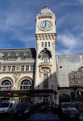 Clock Tower of Gare de Lyon (eutouring) Tags: paris france travel garedelyon train trains trainstation clock clocktower tower