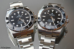 Real and fake Rolex 114060 (cerij4242) Tags: watch watches rolex sub submariner diver ticktock 114060