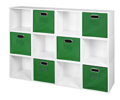 PC12PKWH_HTOTEGN (RegencyOfficeFurniture) Tags: niche regency cubo cubestorage modularstorage modular connecting connectable adaptable custom customizable cube square storageset closet organizer organization furniture cubes expandable home melamine laminate woodtone white whitewoodgrain pc12pk pc1211wh green greenstorage greenbins greentotes htotegn