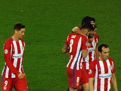 Atletico Madrid players after the final whistle (lcfcian1) Tags: leicester city atletico madrid lcfc atleti uefa champions league football sport uk england kingpowerstadium king power stadium leicestercity atleticomadrid leicestercitystadium uefachampionsleague championsleague footballmatch fernandotorres diegogodin saulniguez 11 18417 quarter final