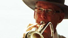 eyes for the master (Leonard J Matthews) Tags: eyes spectacles master cornet player brass band yeoldebrassband redcliffe queensland australia rsl mythoto humanhunt
