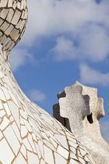 Sculptures on La Pedrera (CityToursBarcelona) Tags: casa mila pedrera antonigaudi barcelona artnouveau modernismo trencadis sculptures spain catalunya catalonia