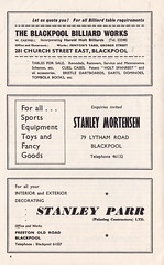 Blackpool vs Sunderland - 1964 - Page 4 (The Sky Strikers) Tags: blackpool football club sunderland league division one bloomfield road official programme 4d