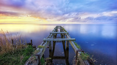 Perfect Peace (Good News Snaps) Tags: loughneagh jetty eosm sunset longexposure le northernireland lake clouds