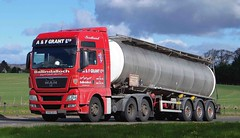 MAN - A & F GRANT LTD. Ballindalloch Morayshire (scotrailm 63A) Tags: lorries trucks tankers