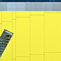 (SteffenTuck) Tags: exterior city architecture building contemporary cityscape steffentuck gray grey grid facade cladding metal screening misalignment yellow urbanlandscape glazing modern brisbane cbd australia wall